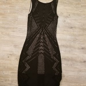Calvin Klein black cut out dress